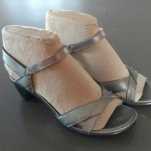 Naot Silver Metallic Sandals